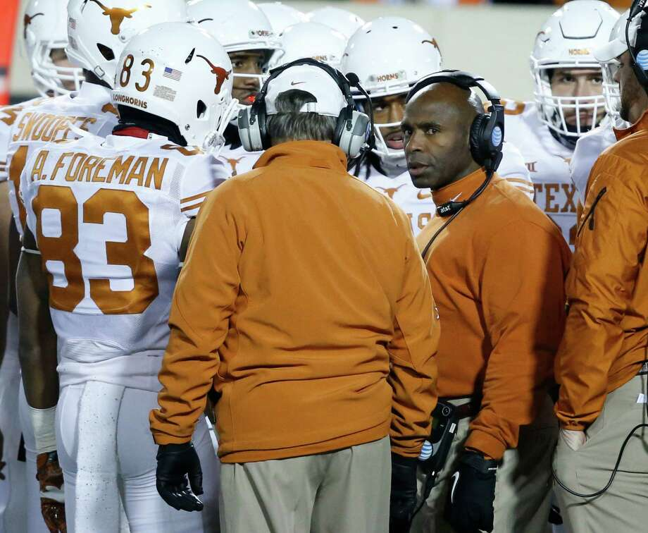 Texas coach Charlie Strong received a pledge from the state's top-rated linebacker, Malik Jefferson of Mesquite Poteet. Photo: Sue Ogrocki /Associated Press / AP