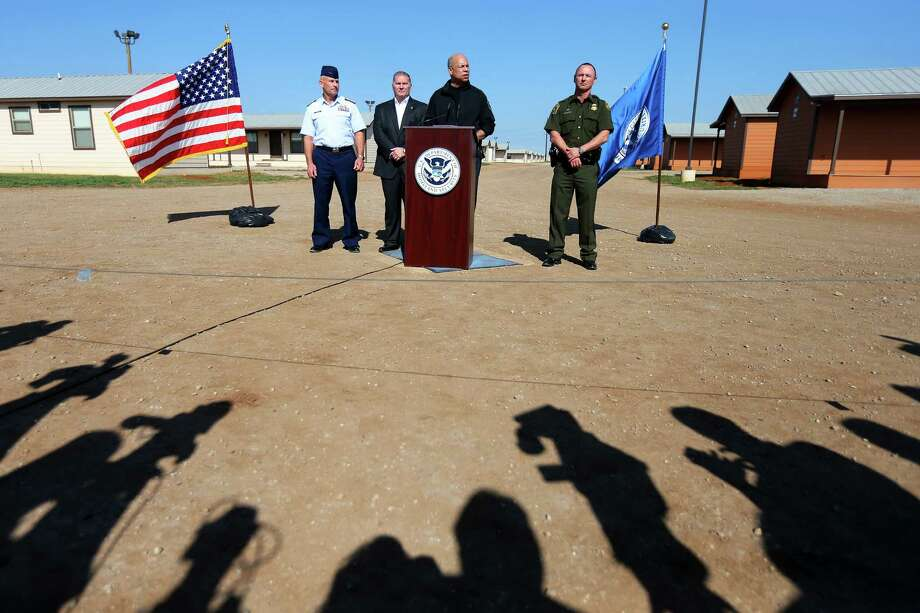 Secretary of Homeland Security Jeh Johnson said a new detention facility will help prevent another surge of undocumented immigrants. Photo: JENNIFER WHITNEY, STR / NYTNS