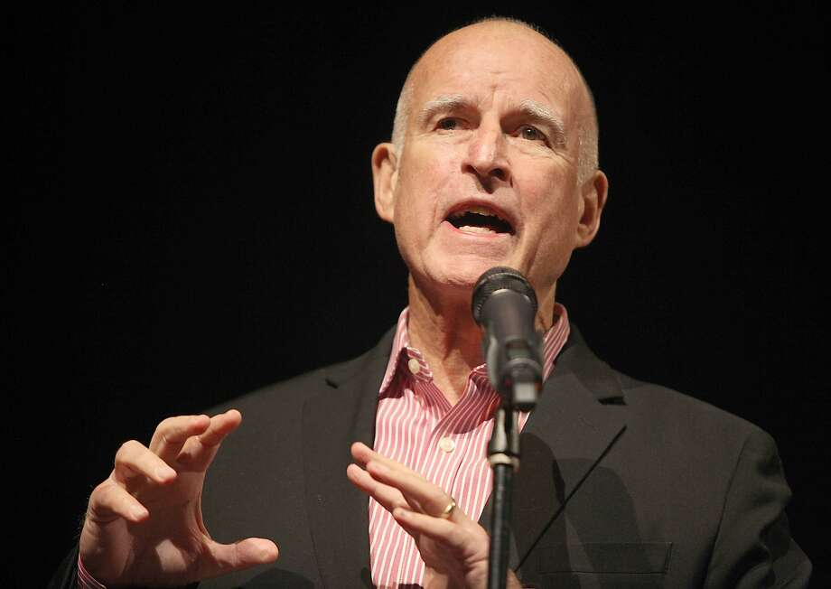 Governor Jerry Brown speaks during the California Climate Leadership Forum at the Kaiser Center in Oakland, Calif., on Monday, December 15, 2014. Photo: Liz Hafalia, The Chronicle