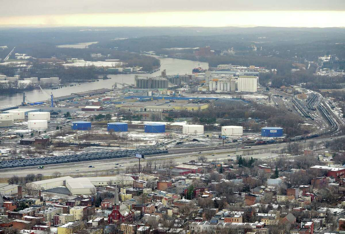Port of Albany viewed from Corning Tower Monday afternoon, Dec. 15, 2014, in Albany, N.Y. (Will Waldron/Times Union)