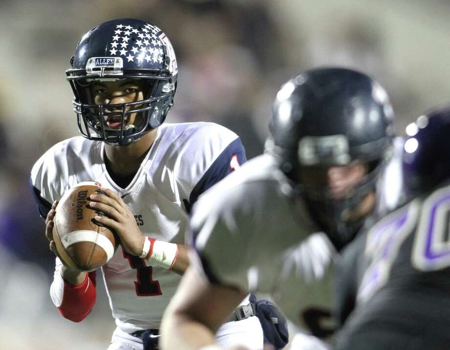 Allen quarterback and Texas A&M pledge Kyler Murray has terrorized opposing defenses this season, throwing for 49 touchdowns and rushing for another 25. Photo: Steve Hamm, Special Contributor / 10016291A