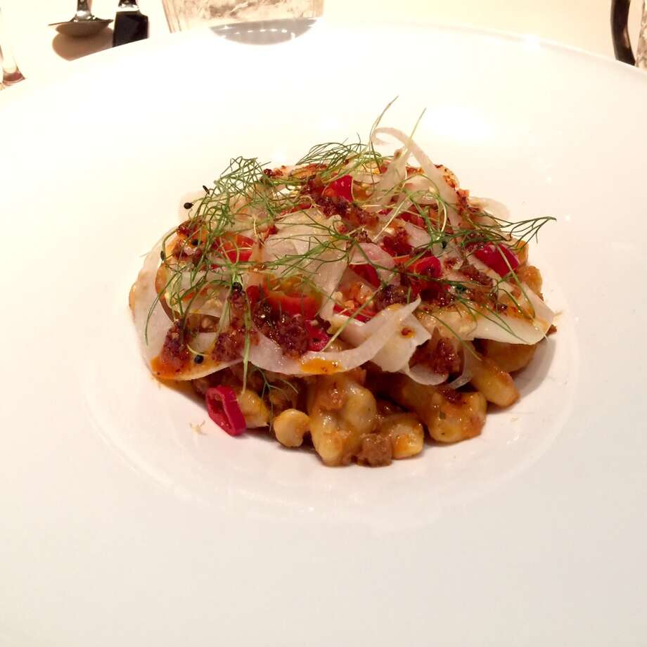 Game: The wild boar cavatelli ($18)  would have been good if the pasta had been cooked longer.
