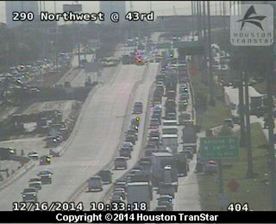 Traffic incident backing up section of US-290 - Houston