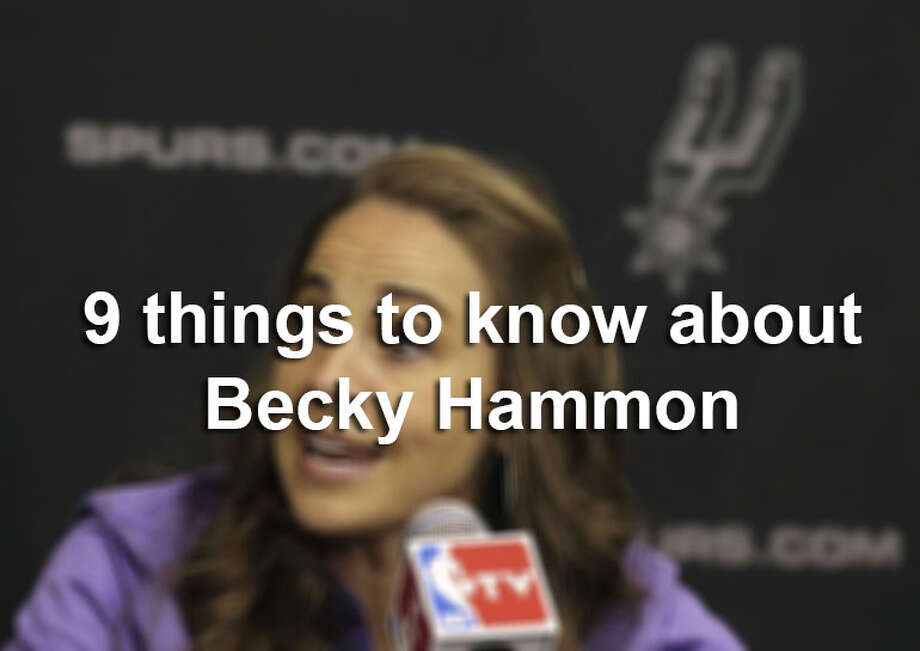WNBA star Becky Hammon is the first female full-time assistant coach in the NBA. Click through the gallery for 9 things you probably didn't know about her. Photo: Kin Man Hui, Express-News / ©2014 San Antonio Express-News
