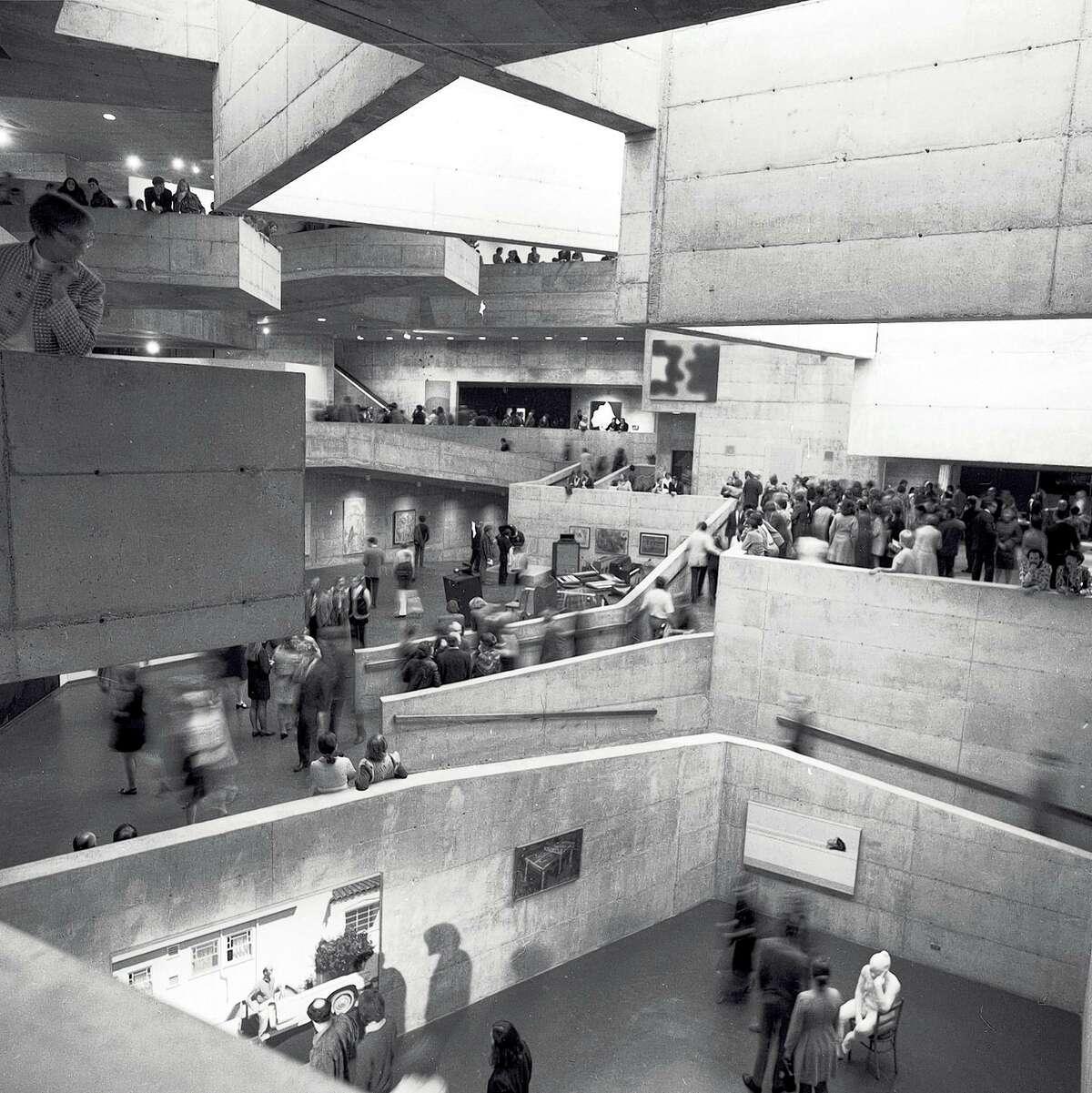 the opening University of California Art Museum, which opened November 1970 Photo taken November 5, 1970