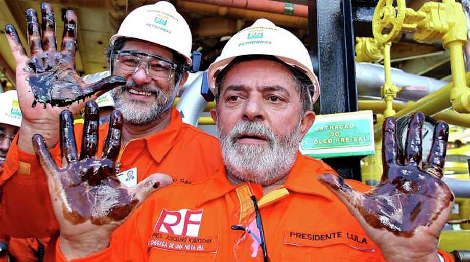 Petrobras has been part of Brazil's emergence as an economic world power since it was created in 1953 to preside over the country's oil exploration and production. The state-owned company witnessed massive growth in the 1970s after the discovery of deepwater oilfields in the Campos Basin. Photo: Ricardo Stuckert, AP