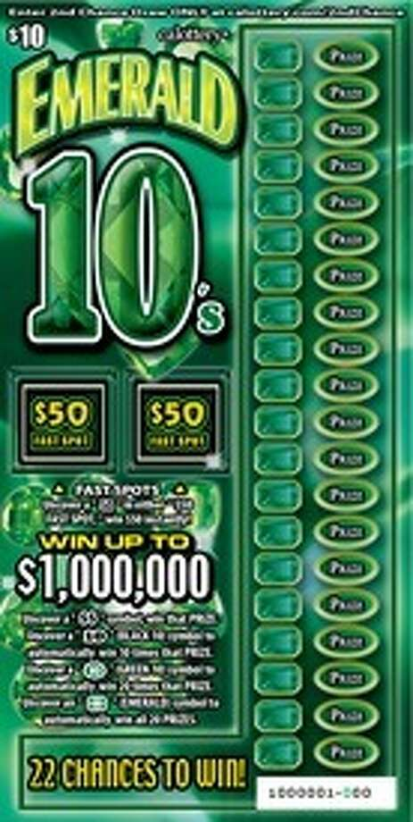An East Bay man who purchased an Emerald 10's lotto ticket, like the one pictured here, recently won $1 million, lottery officials said Sunday. Photo: California Lottery / ONLINE_YES