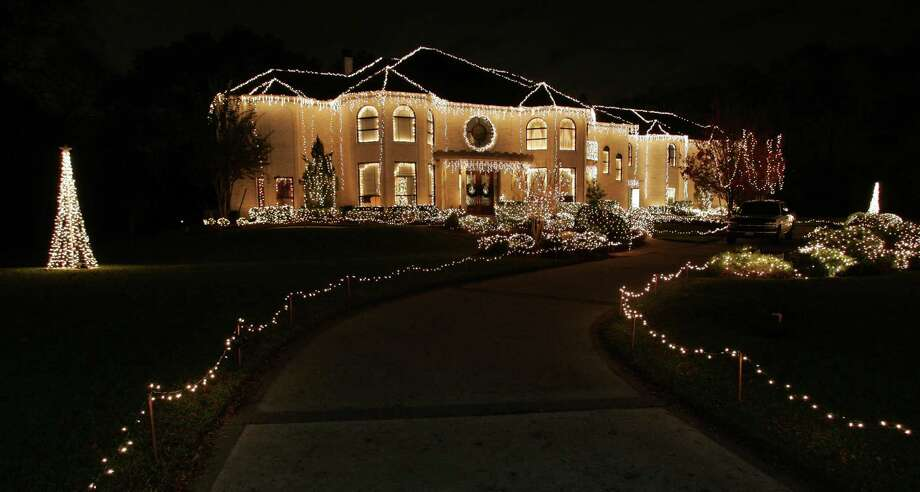 The most decorated house of Christmas lights at the Green Tee Terrace subdivision in Pearland, Texas. Photo: Tom Shea