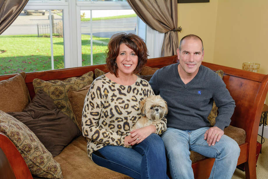 Homeowners Marisa and Tom Rotondaro Photo: Vincent Giordano/518Life / 2014