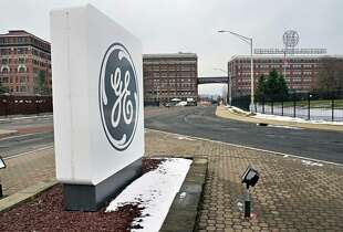 Entrance to the General Electric campus off Erie Blvd. Tuesday Dec. 16, 2014, in Schenectady, NY. (John Carl D'Annibale / Times Union)