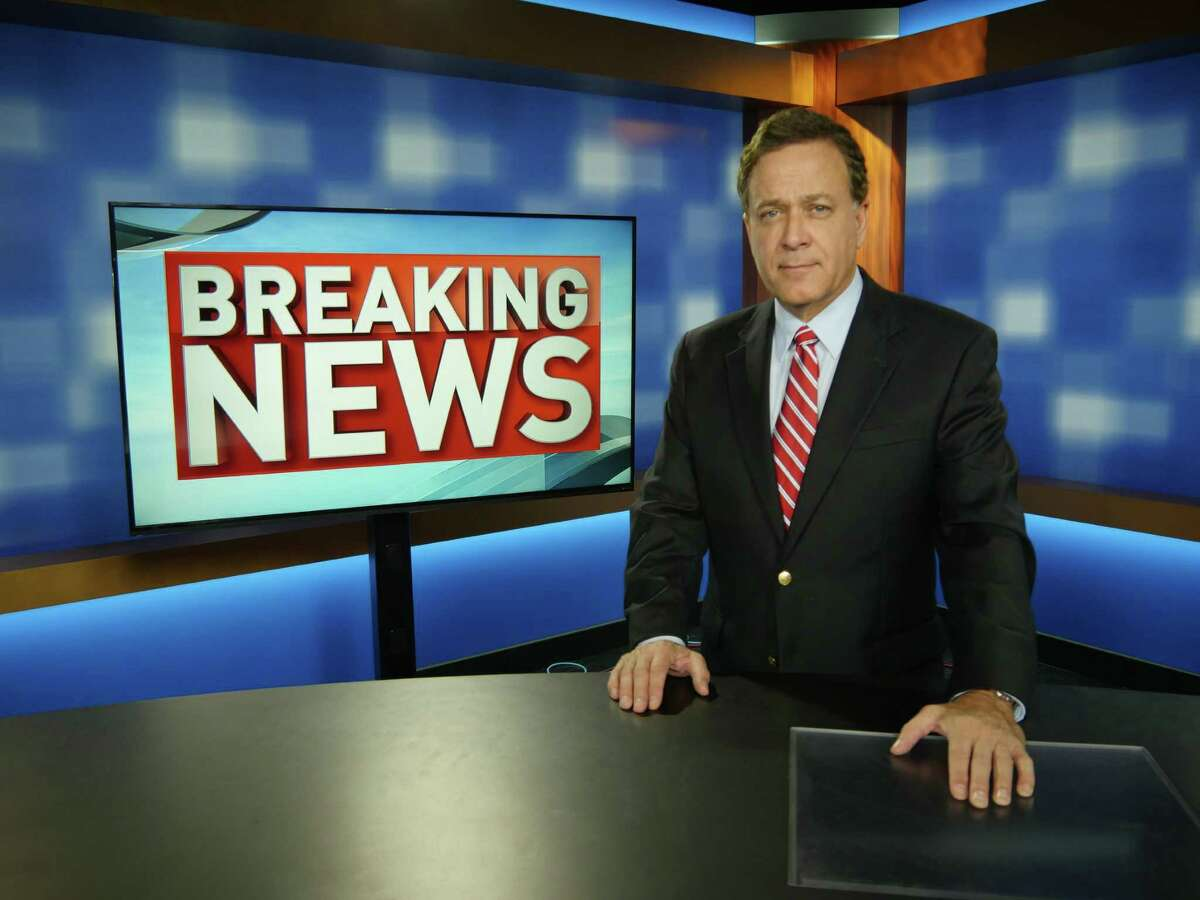 Chief WOAI-TV anchor Randy Beamer poses during a rehearsal on the new News 4 set, one of the changes that comes with the move from the old downtown locale to new digs on the Northwest side of San Antonio. December, 2014