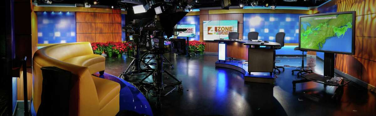 An expansive view of WOAI-TV's revamped news set, one of the changes that comes with the move from the old downtown locale to new digs on the Northwest side of San Antonio. December, 2014