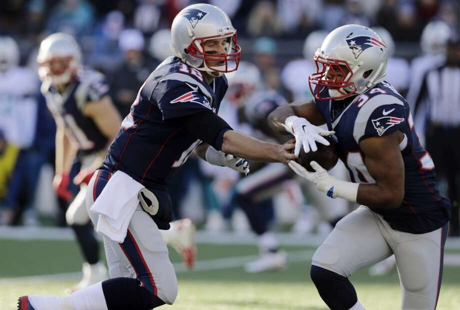 #1. New England Patriots (11-3)  Last week: #2  After blowing out Miami 41-13 and winning another AFC East title, the Patriots are tied for the best record in the AFC and own home-field tiebreaker. Photo: Charles Krupa, Associated Press
