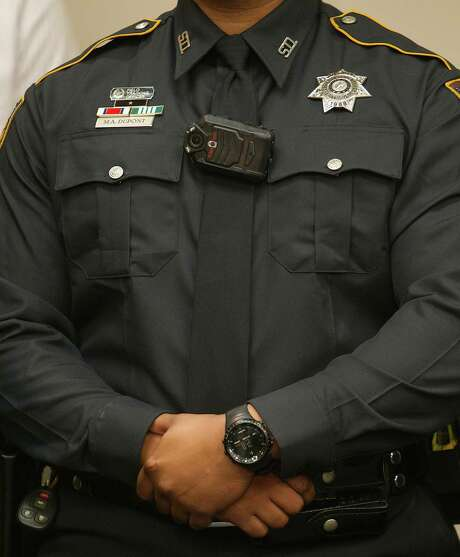 An analyst for the San Antonio Police Department said costs to review, edit and release body camera footage could reach up to $10 million over five years. Photo: James Nielsen, Staff / © 2014  Houston Chronicle