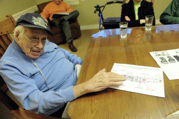 World War II veteran Milton Klarsfeld on Thursday Dec. 11, 2014 in Slingerlands, N.Y. Klarsfeld is now 92 and the last surviving member of Arsenic & Lace, a B24 that was eventually shot down on December 17, 1944, over Olomouc in what is now the Czech Republic. The mission originated from Italy. He was taken POW until end of the war.  (Michael P. Farrell/Times Union) Photo: Michael P. Farrell / 00029822A
