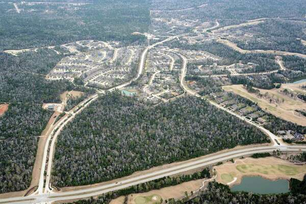2013: Aerial photo of Woodforest, a 3,000-acre community between The Woodlands and Conroe.