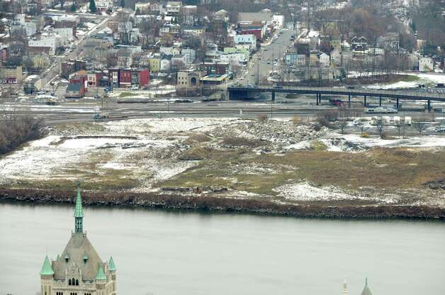 De Laet's Landing viewed from Corning Tower, site of a proposed Hard Rock Cafe casino, Monday afternoon, Dec. 15, 2014, in Rensselaer, N.Y. (Will Waldron/Times Union) Photo: WW