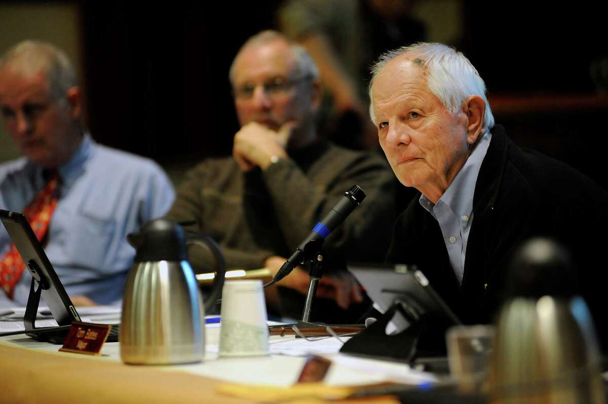 Berkeley mayor Tom Bates listens to speakers during a Berkeley city council meeting in this file photo from 2014. Bates is looking for answers on how rape kits are handled in Berkeley.