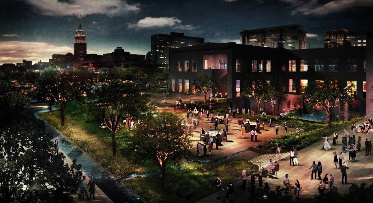 Investment in HemisFair can help define the city of San Antonio. This rendering shows concepts for the civic park at HemisFair Park, the largest segment of the overall redesign. Spanning 15 acres, the civic park faces South Alamo and Market streets.