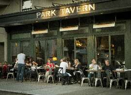 Sitting outside at Park Tavern offers a great view of Washington Square.