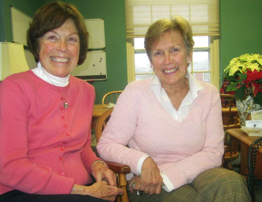Phyllis Allen, left, and Kathy Gollow will step down Dec. 31, 2014 from their longtime roles in the Washington First Selectman's office. December 2014 Photo: Norm Cummings / The News-Times