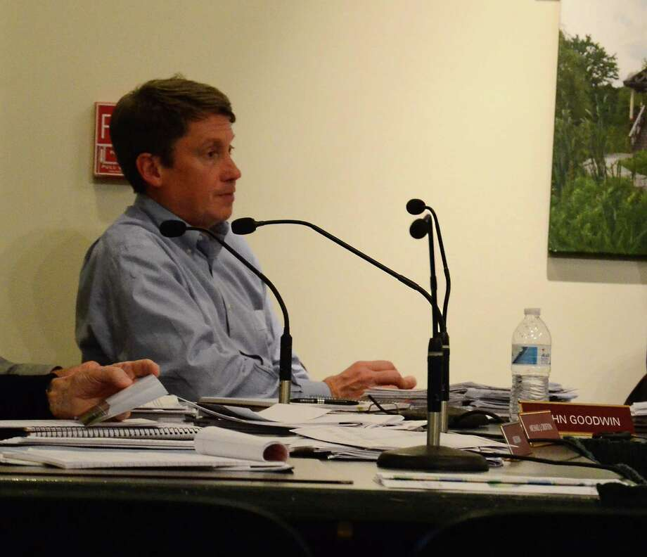 John Goodwin was elected chairman of the Planning and Zoning Commission at a meeting Tuesday night, Dec. 16, 2014, at the New Canaan Nature Center, New Canaan, Conn. Photo: Nelson Oliveira / New Canaan News