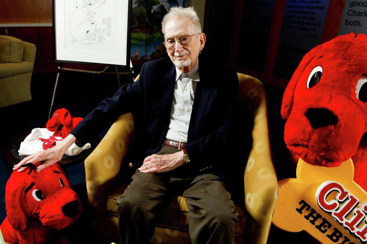 NORMAN BRIDWELL, 1928-2014. In this May 4, 2011 file photo, author and cartoonist Norman Bridwell poses for a portrait at Scholastic headquarters in New York. Bridwell, creator of the popular
