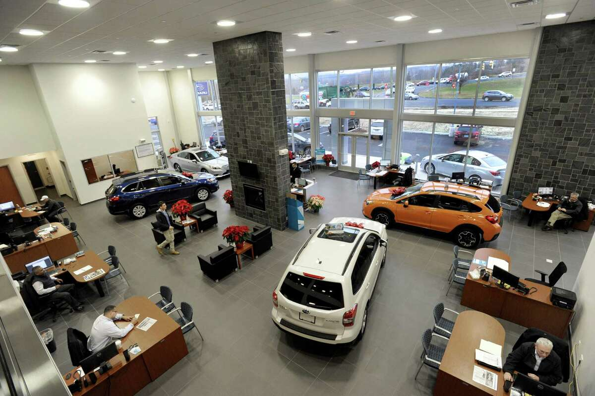 The showroom at Colonial Suburu Tuesday, Dec. 16, 2014. Colonial Subaru has opened in the former Roberts Buick spot on Newtown Road in Danbury, Conn.