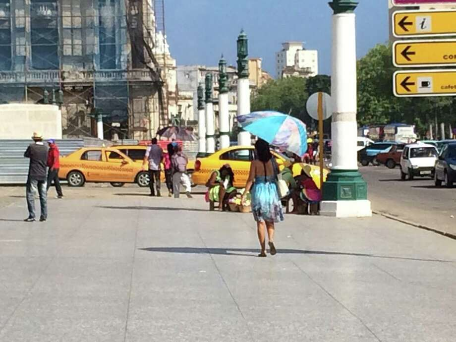 Havana, 10/14. Street in front of the capitol building Photo: Leah Garchik