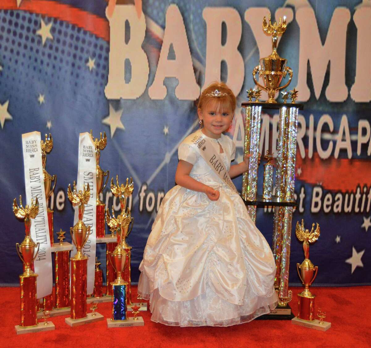Texas contestants from the 2014 Baby Miss America National Pageant held Thanksgiving weekend at the Marriott North Houston.This is Baby Miss Texas, who was the 1st runner-up and 2nd place winner in the Baby Miss America division.