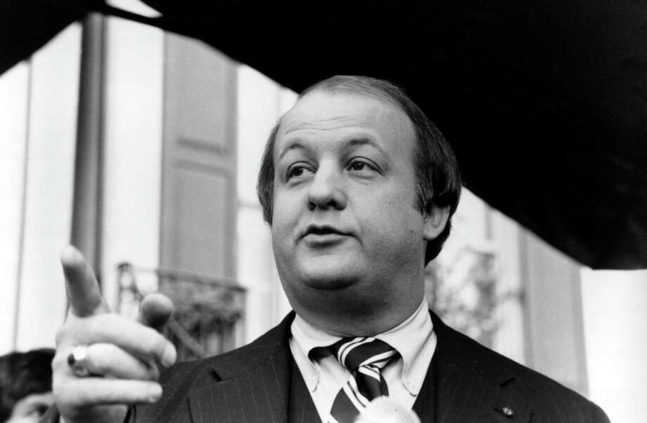 FILE - In this Jan. 6, 1981, file photo James Brady, selected by president-elect Ronald Reagan to become his press secretary, talks to reporters after the announcement was made in Washington. Brady, the affable, witty press secretary who survived a devastating head wound in the 1981 assassination attempt on President Ronald Reagan and undertook a personal crusade for gun control, died Monday, Aug. 4, 2014. He was 73. Photo: Walt Zebowski, AP / AP