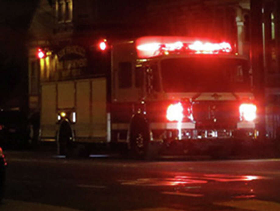 Firefighters responded to a commercial structure fire near the Fruitvale BART station in Oakland late Monday morning.  Photo - File photo of a firetruck