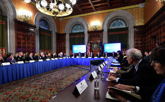Governor Andrew Cuomo addressed numerous questions during his cabinet meeting held in the Red Room of the Capital Wednesday afternoon Dec. 17, 2014 in Albany, N.Y.     (Skip Dickstein/Times Union) Photo: SKIP DICKSTEIN, ALBANY TIMES UNION / 00029897A