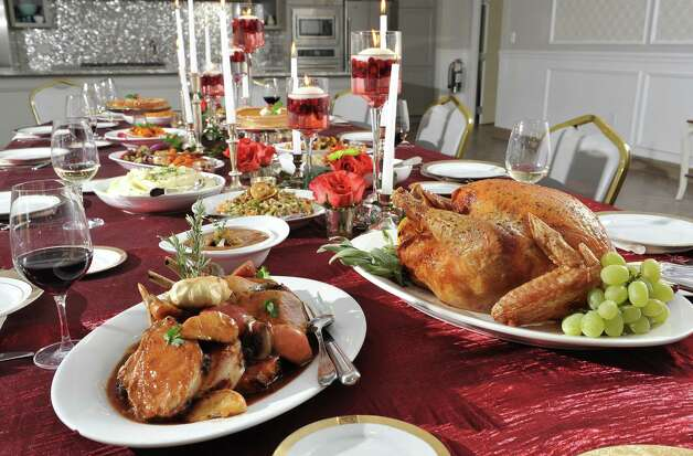 A holiday tablescape at Mazzone Hospitality Corporate Headquarters Wednesday Nov. 12, 2014, in Clifton Park, NY.  (John Carl D'Annibale / Times Union) Photo: John Carl D'Annibale / 00029449A