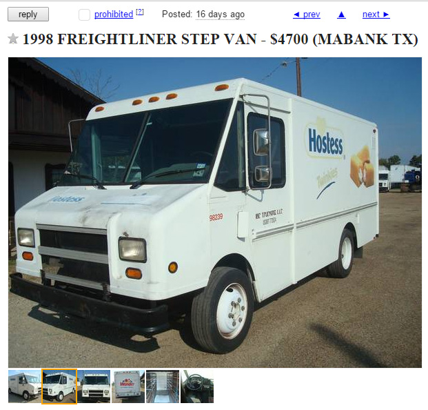 A Retro Twinkie Truck Is Up For Sale On San Antonio's