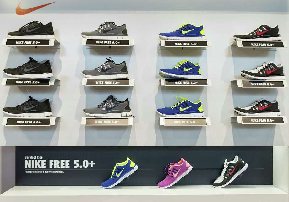 Nike Free running shoe display in a Nike store in a file photo. Photo: John Greim, Getty Images / © 2014 John Greim