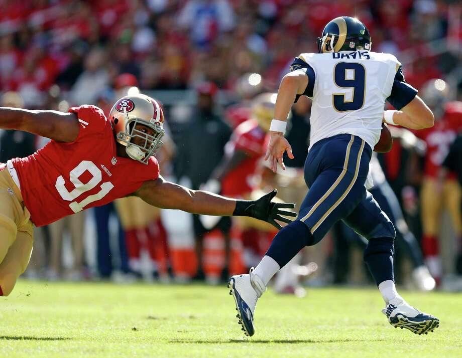 Austin Davis hasn't thrown a pass since the 2015 season. Photo: Scott Strazzante / The Chronicle / ONLINE_YES