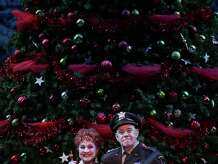 """The national tour of """"Irving Berlin's White Christmas"""" arrives at New Haven's Shubert Theater on Dec. 30. The cast includes (front) Elizabeth Crawford, Pamela Myers and Conrad John Schuck."""