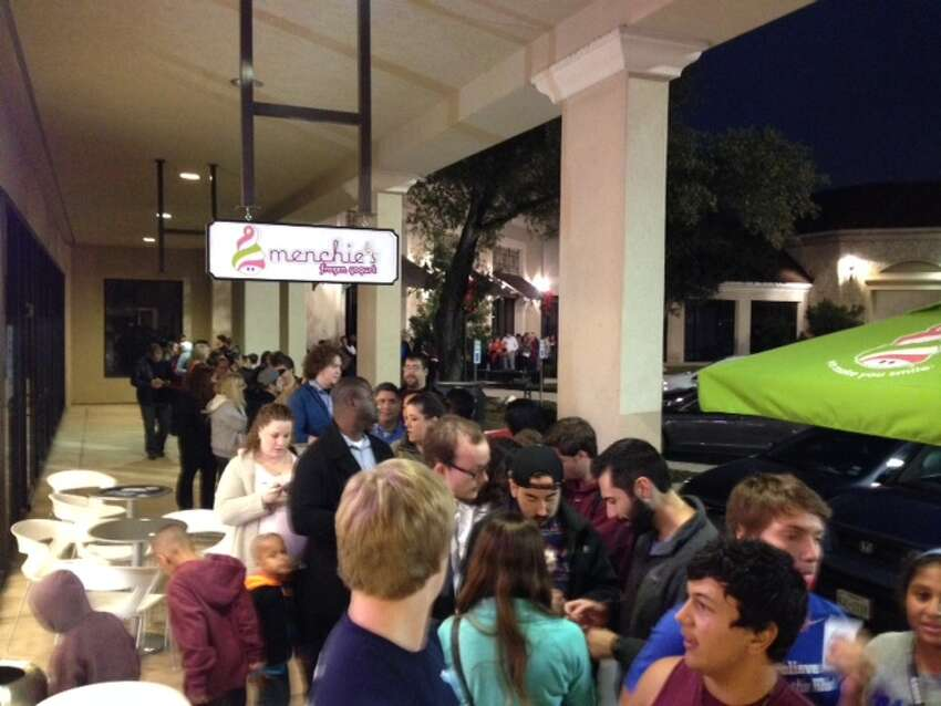 Fans of the popular Austin-based taco restaurant Torchy's Tacos lined up on Wednesday, Dec. 17, at The Shops at Lincoln Heights, as its first San Antonio location opened its doors. The restaurant has a cult following and is known for its unique take on traditional tacos.