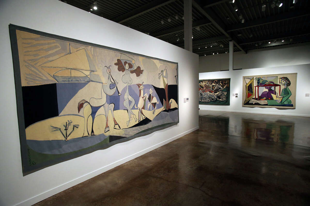 The San Antonio Museum of Art is hosting an exhibition of 15 large scale tapestries of works by Picasso commissioned by Nelson Rockefeller on December 17, 2014.