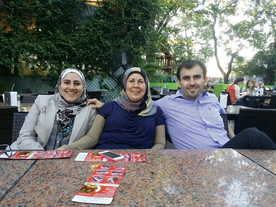 Bader Ghashim, right, with his sister Judy, left, and their mother, Hind. Photo: Courtesy Bader Ghashim