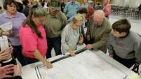 Maps of the high-speed rail proposal drew plenty of attention Dec. 4 at a public meeting in Navasota.