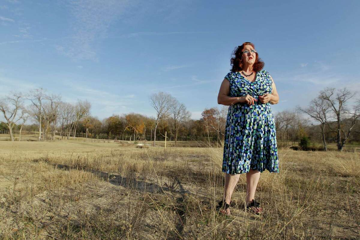 Nancy Perry was planning a home on 10 acres outside Navasota. Now a proposal to run two transmission lines nearby - one would be only 900 feet from her front porch - have halted the Grimes County real estate broker's plans to build.