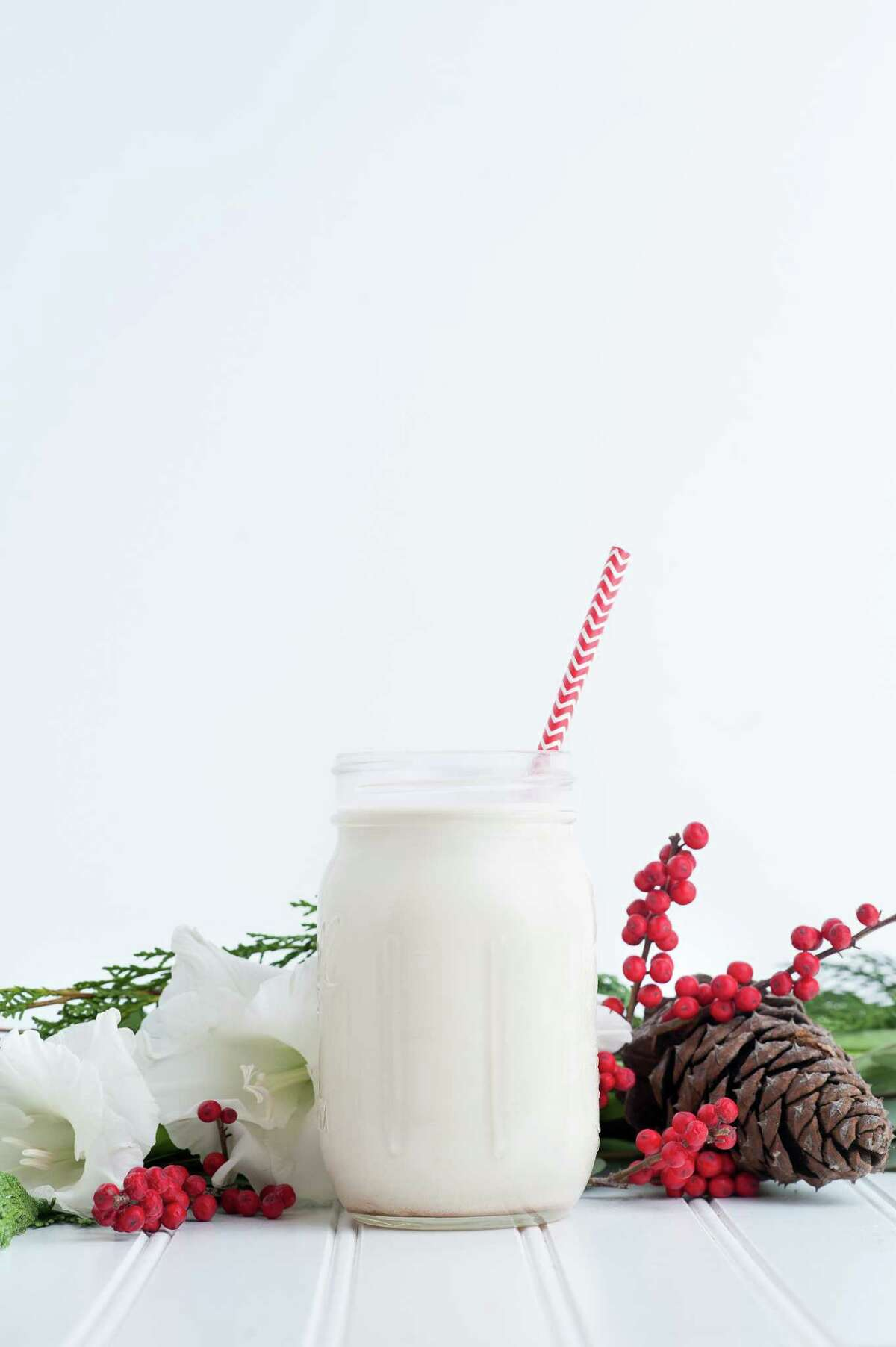 Can Can Cleanse's holiday spice nut milk is made made with almonds, nutmeg, vanilla bean, dates and a hint of bourbon.