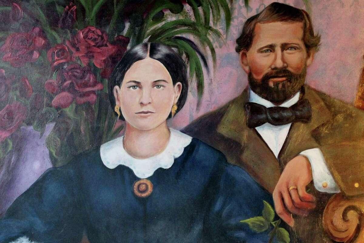 """""""Pioneer Founders of Pleasanton"""" mural"""