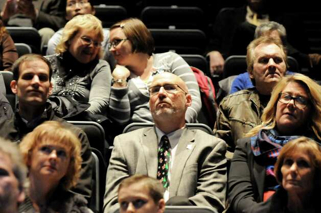 An audience gathers in anticipation of a news conference on Schenectady's selection as a casino site on Wednesday Dec. 17, 2014, at Proctors Theatre in Schenectady, N.Y. (Cindy Schultz / Times Union) Photo: Cindy Schultz / 00029889A