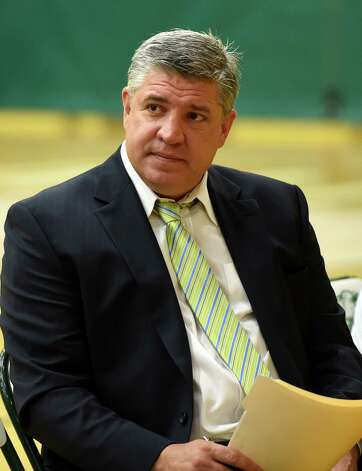 Siena Men's Basketball head coach Jimmy Patsos speaks to the press during media day Friday morning, Oct. 17, 2014, at Siena College in Loudonville, N.Y. (Skip Dickstein/Times Union) Photo: SKIP DICKSTEIN / 10029024A