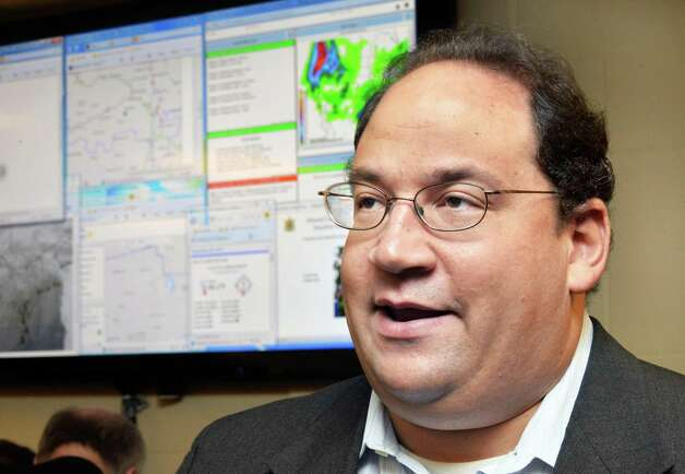 Albany County deputy emergency manager Howard Altschule discusses their new WeatherBug station at the Albany County Sheriff Public Safety Building Wednesday Dec. 17, 2014, in Clarksville, NY.  (John Carl D'Annibale / Times Union) Photo: John Carl D'Annibale / 00029892A