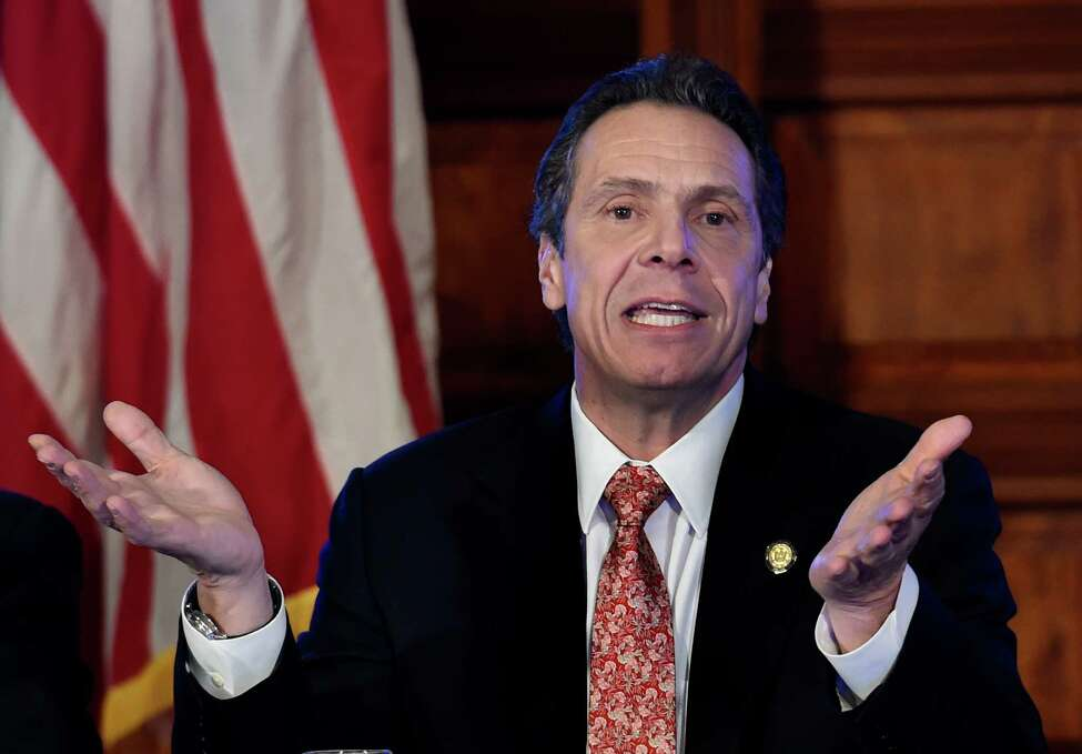Governor Andrew Cuomo addressed numerous questions during his cabinet meeting held in the Red Room of the Capital Wednesday afternoon Dec. 17, 2014 in Albany, N.Y. (Skip Dickstein/Times Union)