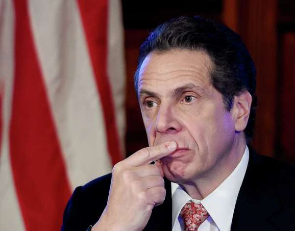 Governor Andrew Cuomo in deep thought during his cabinet meeting held in the Red Room of the Capital Wednesday afternoon Dec. 17, 2014 in Albany, N.Y.     (Skip Dickstein/Times Union) Photo: SKIP DICKSTEIN / 00029897A
